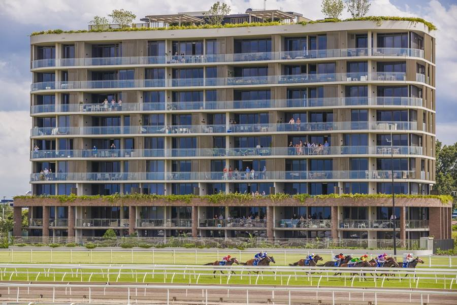 View of Ascot House from the infield